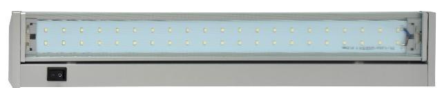LED svítidlo GANYS TL2016-42SMD stříbrné 10W 4100K 58cm800lm