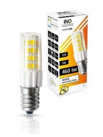 LED žárovka INQ, E14 5W T25, neutrální bílá válcová IN717099