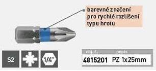 Hrot PZ 1X25mm, S2, KITO - 4815201