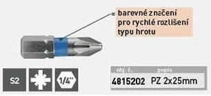 Hrot PZ 2X25mm, S2, KITO - 4815202