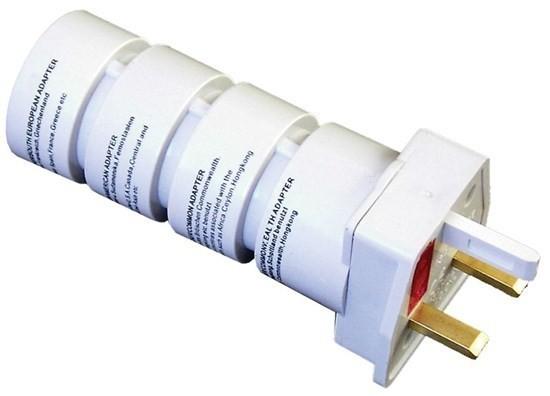 Cestovní adaptér SOLIGHT PA21, souprava