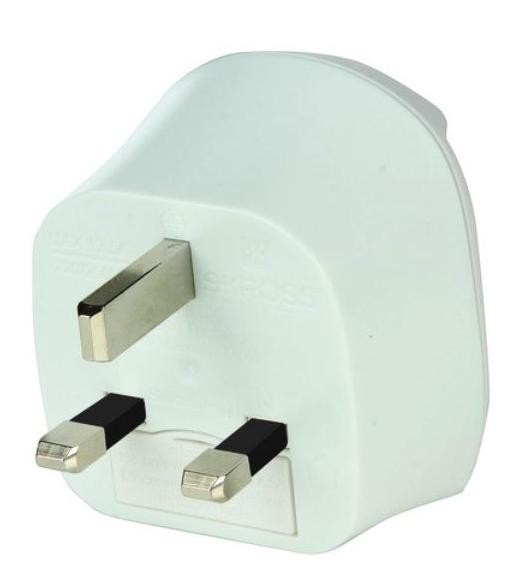 Cestovní adaptér SKROSS pro použití v UK, bílý PA28