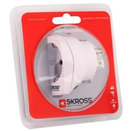 Cestovní adaptér SKROSS pro použití v USA, bílý, PA29