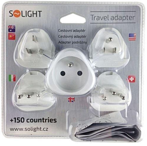 Cestovní adaptér SO. PA20 výměnné vidlice pro celý svět