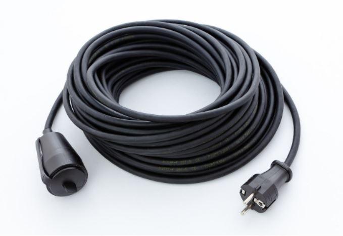 Prodlužovací gumový kabel 1zás. 20m 3x1,5mm2 černý PM1003320