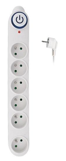 Přepěťová ochrana Solight, 150J, 6 zásuvek, 3m, bílá PO63