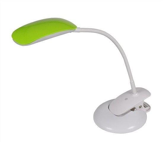 LED stmívatelná lampička 2v1, podstavec i klip, 5W 4000K, 3 barev. kryty - SWO42