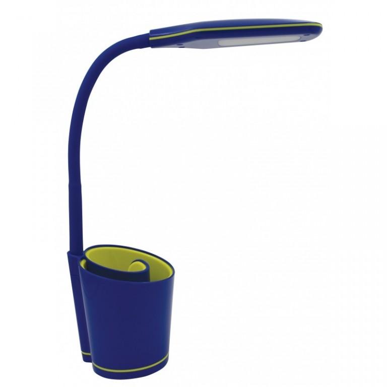NILSEN LED stolní lampa ELSA dotyková, stmívatelná, 6W, modrá INPX022