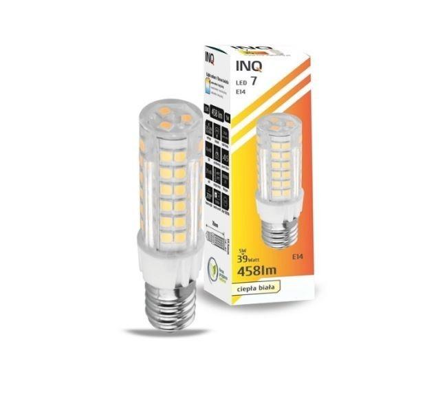 LED žárovka INQ, E14 5-45W, teplá bílá, IN148572