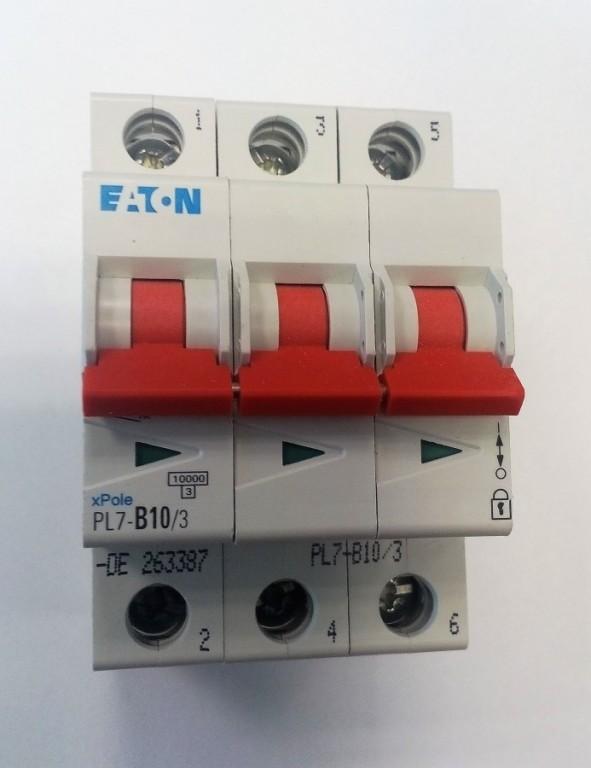 Jistič EATON PL7-B10/3 - 263387