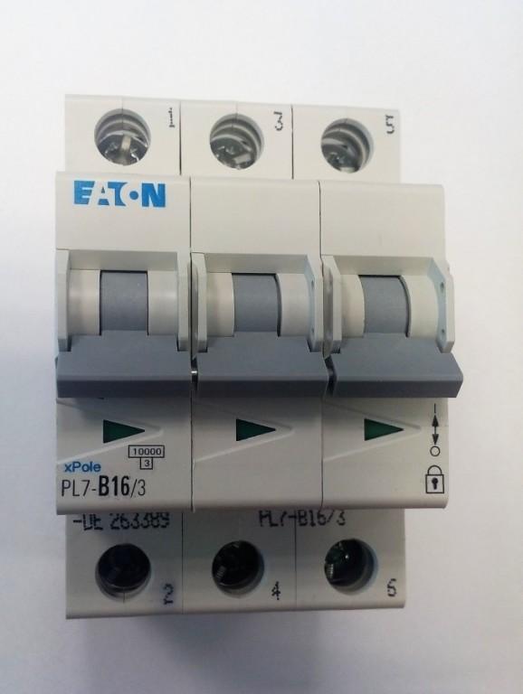 Jistič EATON PL7-B16/3 - 263389
