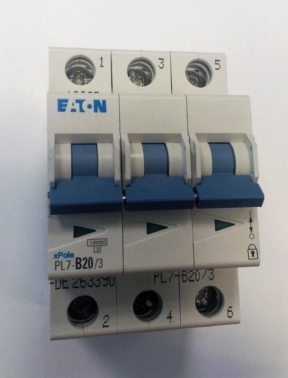 Jistič EATON PL7-B20/3 - 263390