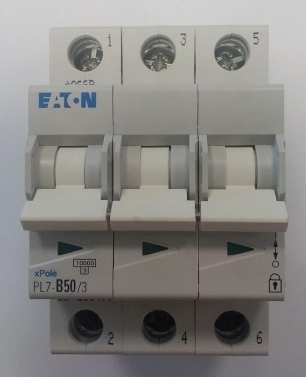 Jistič EATON PL7-B50/3 - 263400