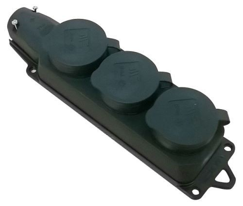 Zásuvka gumová 3-násobná 404015018 - P27148
