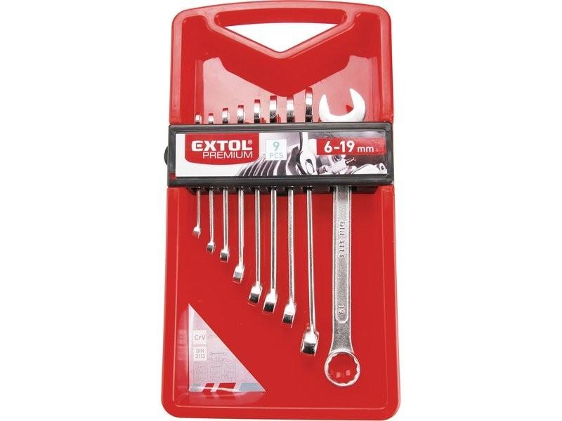 Klíče očkoploché, sada 9ks, 6-19mm EXTOL PREMIUM - 6352