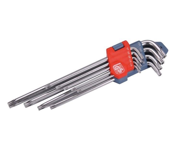 L-klíče TORX prodloužené, sada 9ks, T10-50mm EXTOL PREMIUM - 8819412