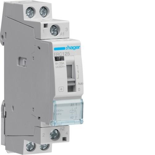Stykač HAGER ERC125 25A, 1S, 230V AC