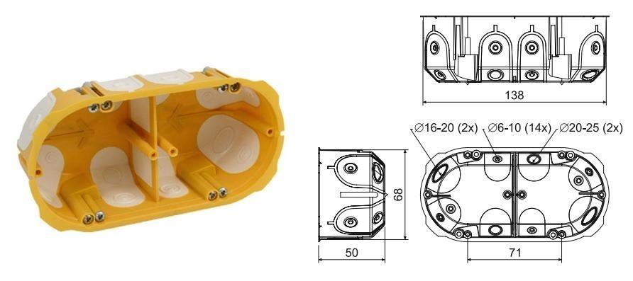 Krabice KPL 64-50/2LD - sádrokarton
