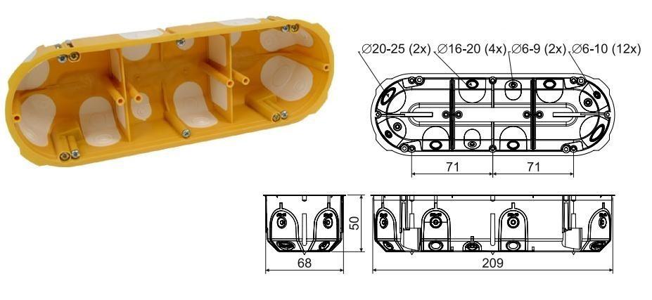 Krabice KPL 64-50/3LD - sádrokarton