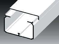 Lišta hranatá LH 60x40 HD - 2m - Cena za 1metr