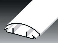 Lišta oblá LO 50 HD - 2m - Cena za 1metr