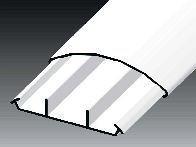 Lišta oblá LO 75 HD - 2m - Cena za 1metr