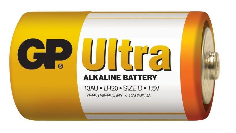 Baterie GP Ultra Alkaline R20 (D, velké mono)