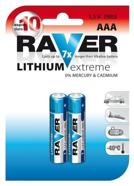 Baterie RAVER FR03 LITHIUM (AAA, mikrotužka)