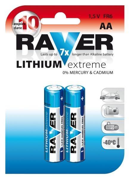 Baterie RAVER FR6 LITHIUM (AA, tužka)