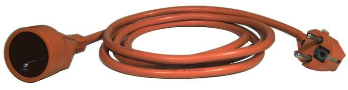 Prodlužovací kabel - spojka 25m oranžový - P01125