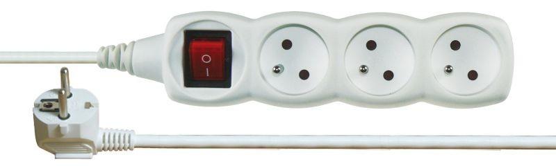 Prodlužovací kabel s vypínačem 3 zásuvky 3m - P1313