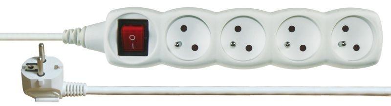 Prodlužovací kabel s vypínačem 4 zásuvky 5m - P1415