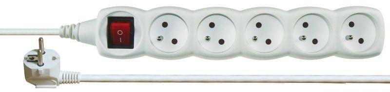 Prodlužovací kabel s vypínačem 5 zásuvek 3m - P1513