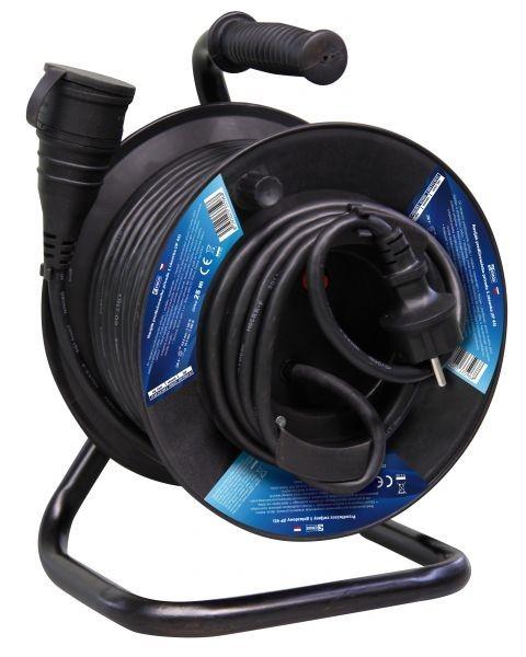 Gumový prodlužovací kabel na bubnu - spojka 25m - P08125