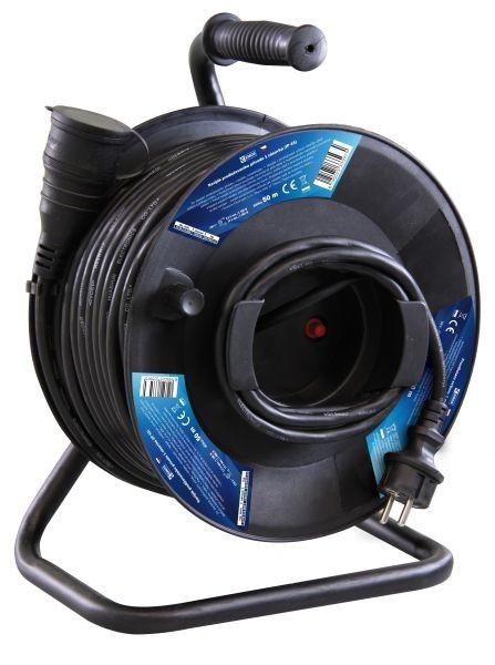 Gumový prodlužovací kabel na bubnu - spojka 50m - P08150