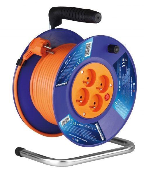 Prodlužovací kabel na bubnu - 4 zásuvky 50m - P19450