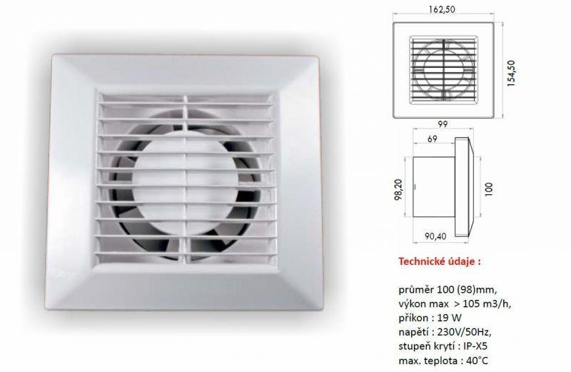 Ventilátor PRIMO 100 base
