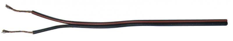 Dvojlinka 2x0,35mm černo/rudá - S8230