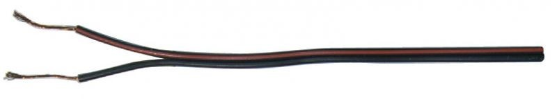 Dvojlinka 2x1mm černo/rudá