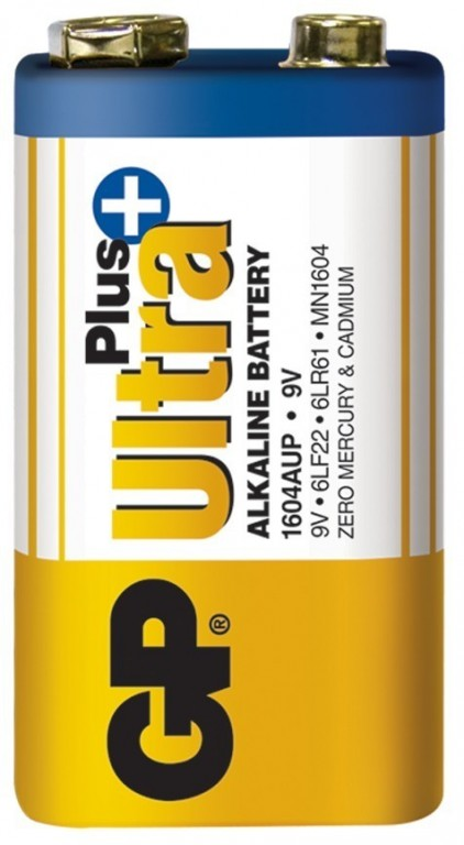 Baterie GP Ultra Plus Alkaline 9V 6LF22 (1604)