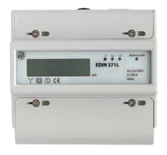 Elektroměr EDIN 371L, 3fázový 5-100A 7M - LCD displej