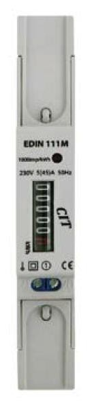 Elektroměr EDIN 111M 1fázový 5-45A 1M - mechanické počítadlo