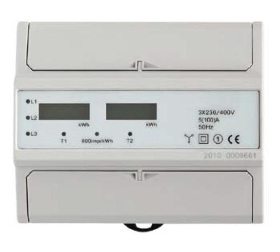 Elektroměr EDIN 372L, 3fázový 2tarif 5-100A 7M - LCD displej