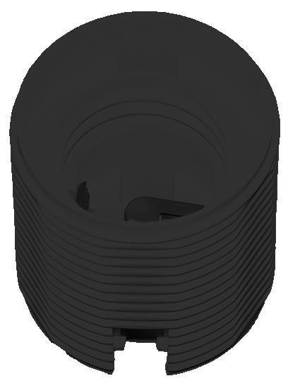 FOB-E14/ OE-2 objímka se závitem černá