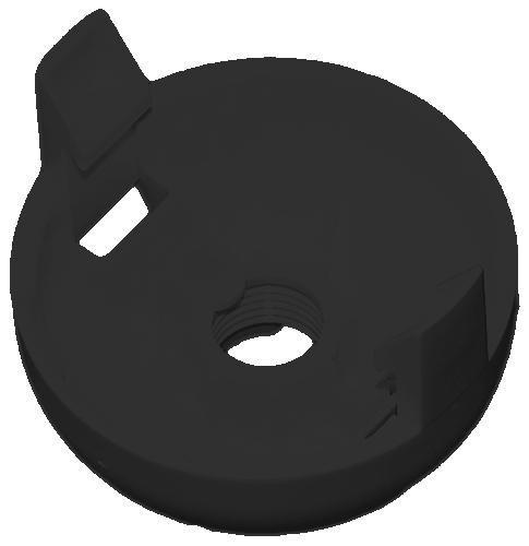 FOB-E27 spodek objímky černý pro OE-3 i OE-4