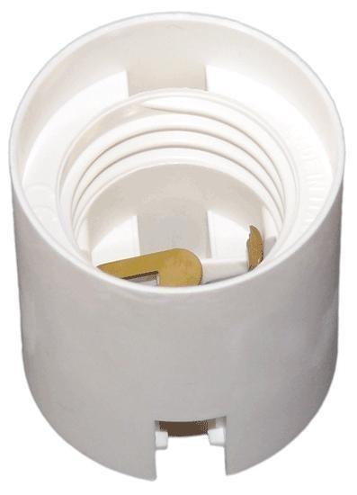 FOB-E27/ OE-3 objímka hladká bílá