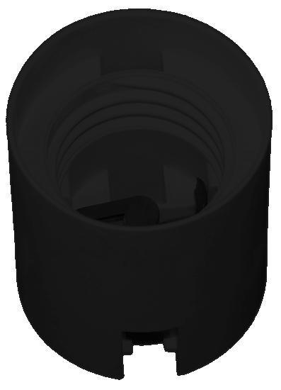 FOB-E27/ OE-3 objímka hladká černá