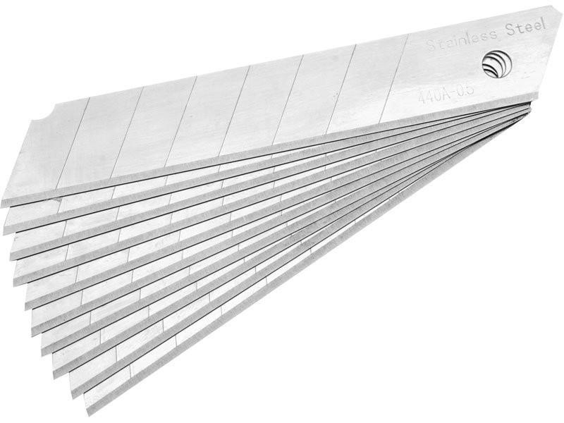 Břity ulamovací do nože nerez 18mm 10 ks. - 4780001