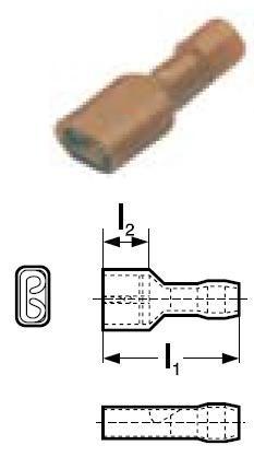 Konektor lisovací GPH Cu PVC 1,5-2,5 BF-F 608P