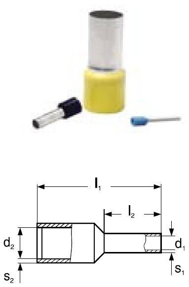 Dutinka lisovací izolovaná DI 25-16